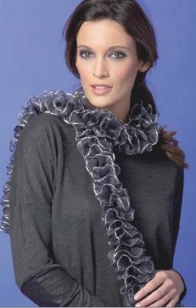 Scarf Knitting Yarns Inc Katia Ondas Triana And Tutu