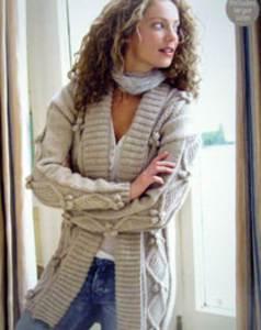 Women's aran knitting patterns inc cardigans, sweaters, waistcoats